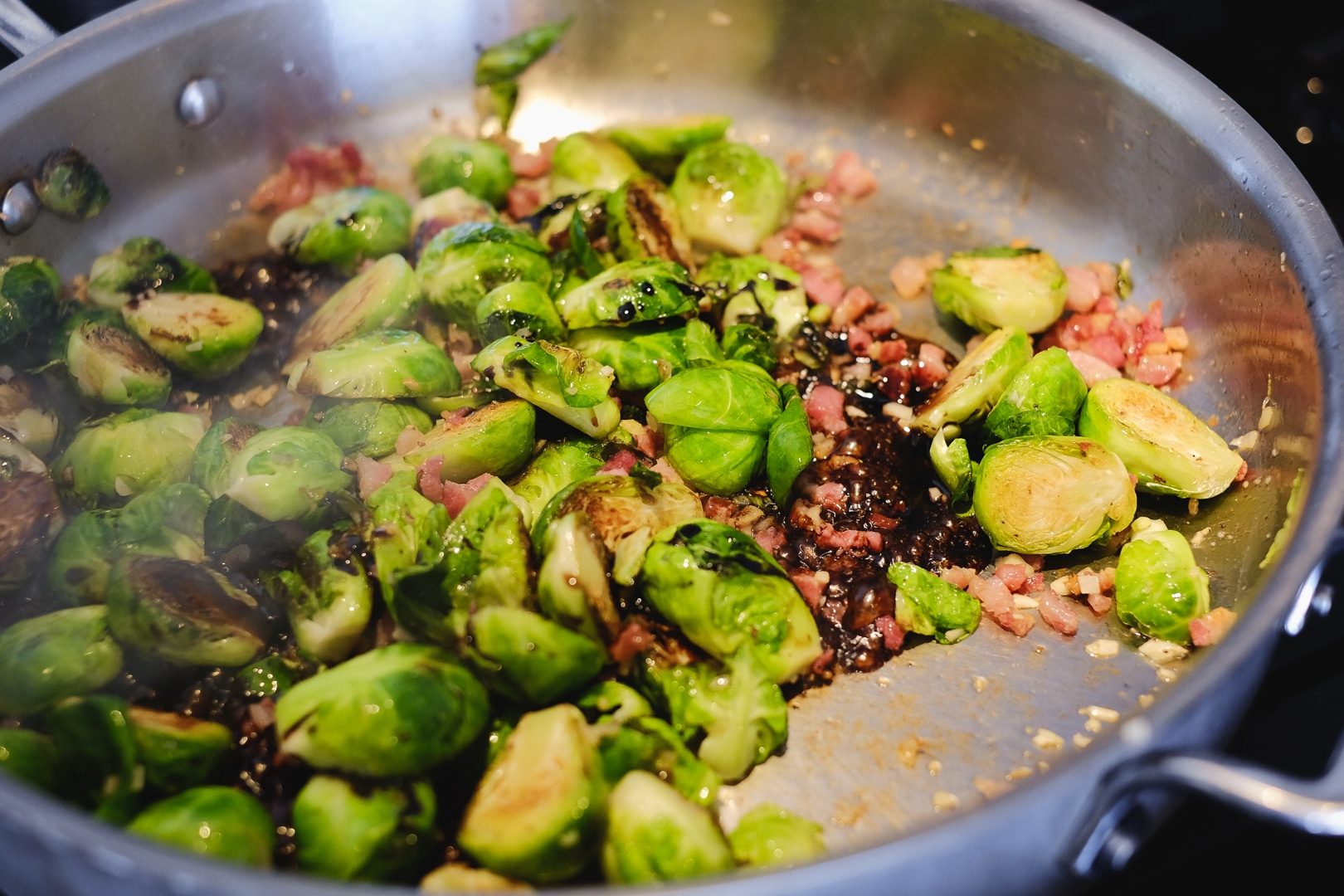 Brussels Sprouts with Pancetta and Shallots Pre 2