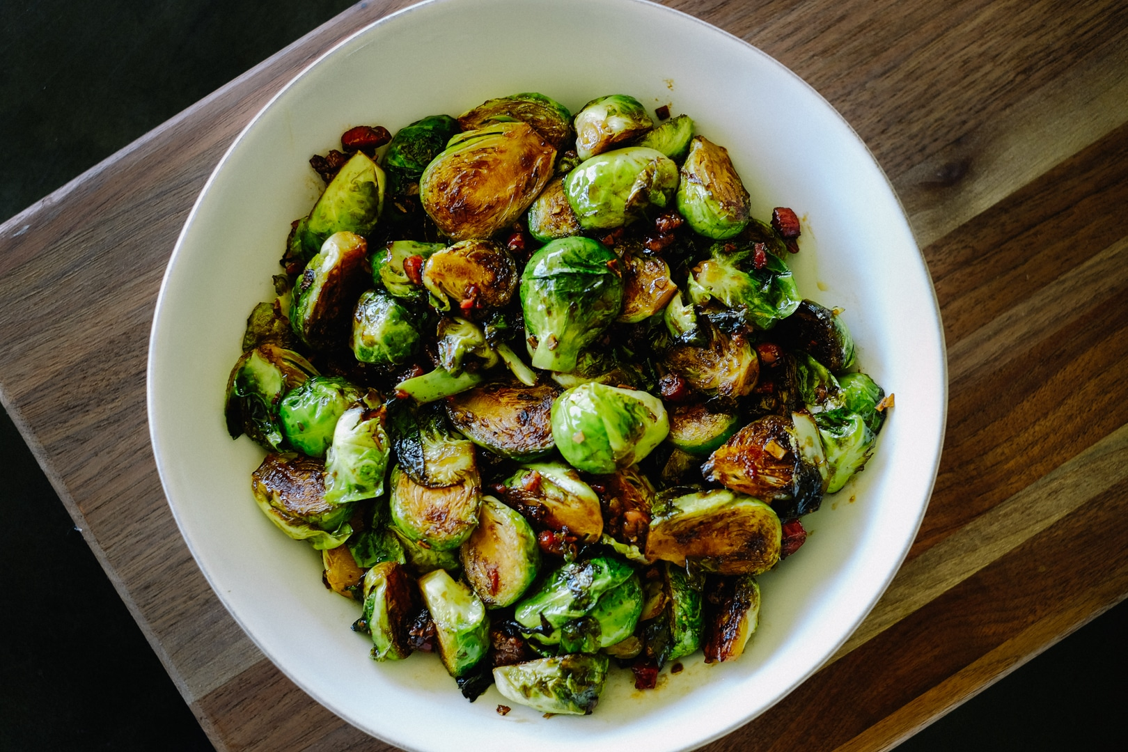 Brussels Sprouts with Pancetta and Shallots 1