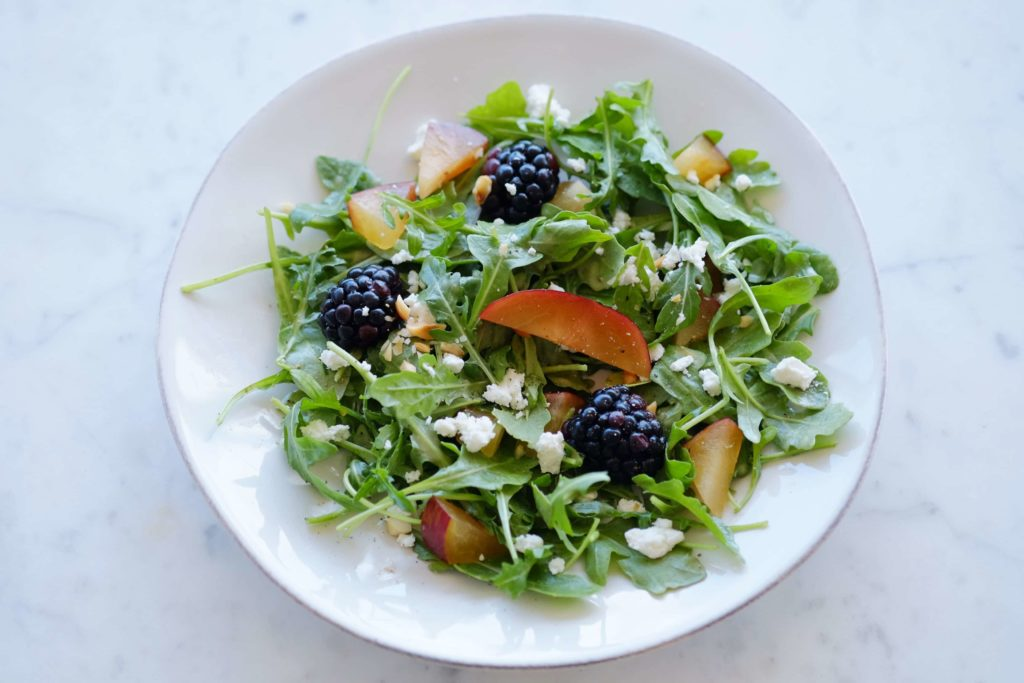Arugula and Blackberry Salad with Plum Vinaigrette - 3Ed