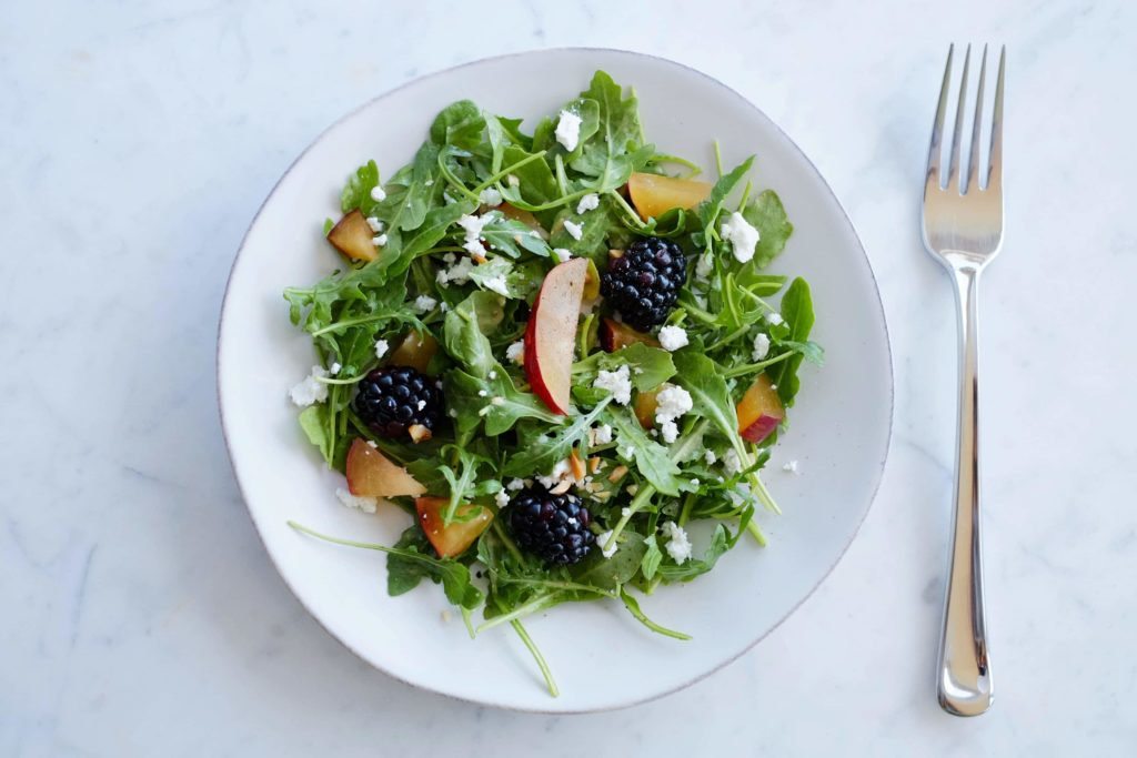 Arugula and Blackberry Salad with Plum Vinaigrette - Ed2