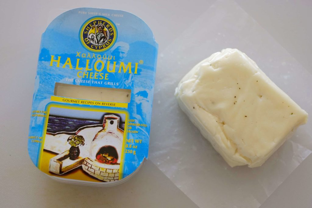 Halloumi cheese package