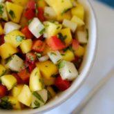 Jicama, Mango and Red Bell Pepper Salad