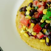Black Bean Mini Tostada