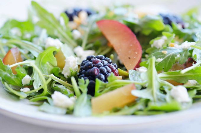 Arugula and Blackberry Salad with Plum Vinaigrette