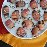 Bacon Wrapped Dates with Thyme and Goat Cheese