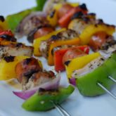 Chicken, Sausage and Vegetable Kebabs