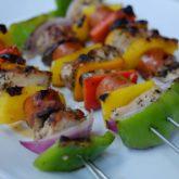 Chicken, Sausage and Vegetable Kebabs