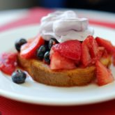 Strawberry Shortcake with Blueberry Whipped Cream