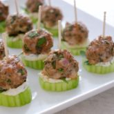 Lamb Meatball with Yogurt-Tahini Sauce