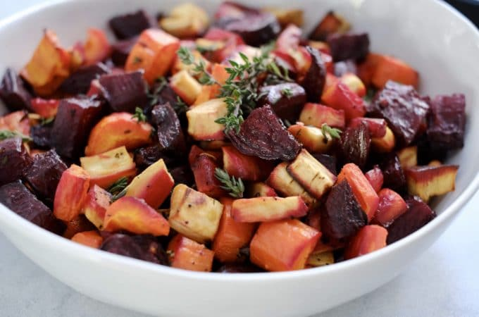 Honey Roasted Beets, Carrots and Parsnips