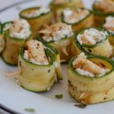 Grilled Zucchini Roll-Ups with Chicken and Goat Cheese