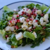 Arugula Salad with Goat Cheese and Pears