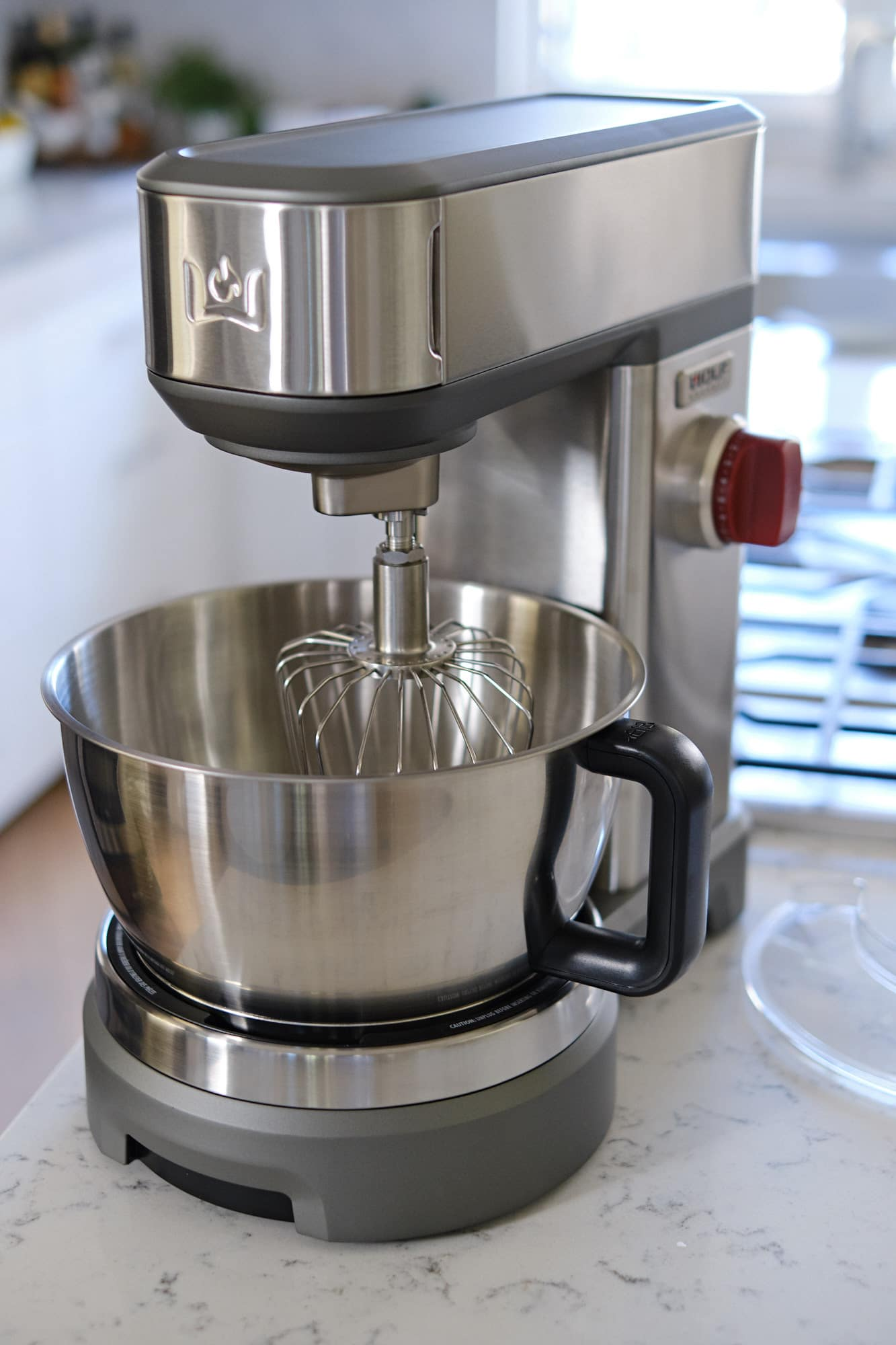 Wolf stand mixer on countertop