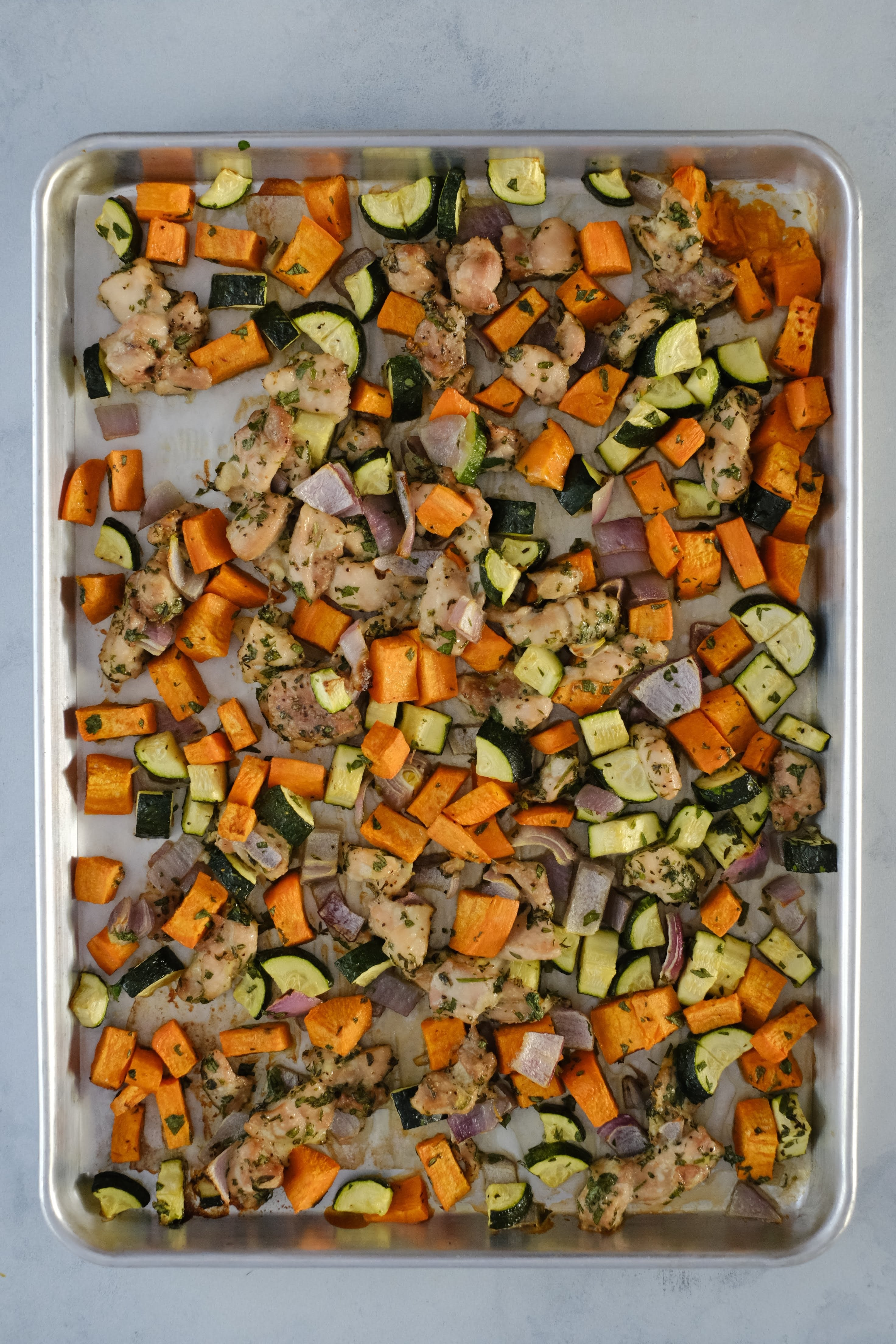 roasted chicken and vegetable