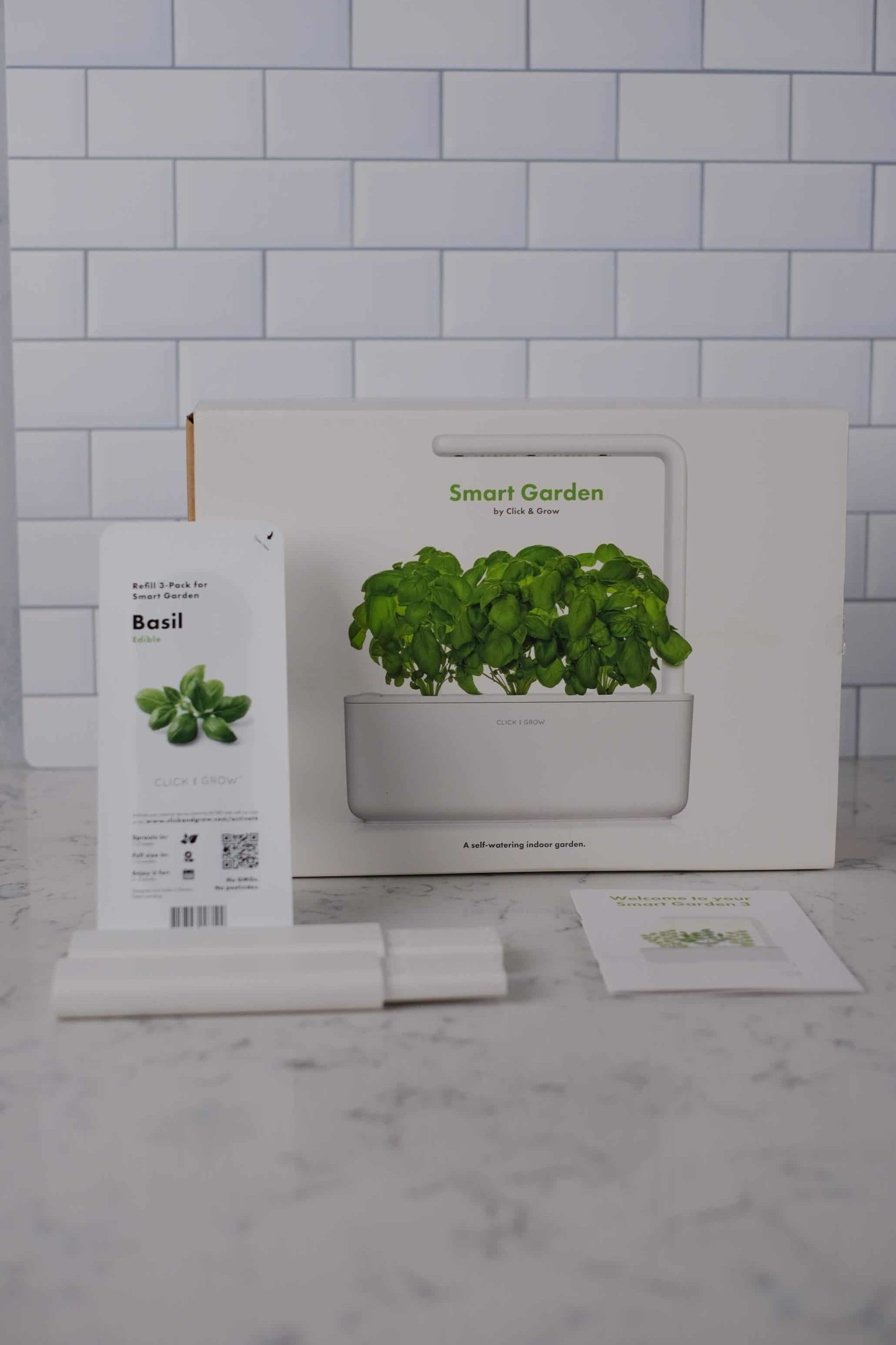 smart garden box on countertop